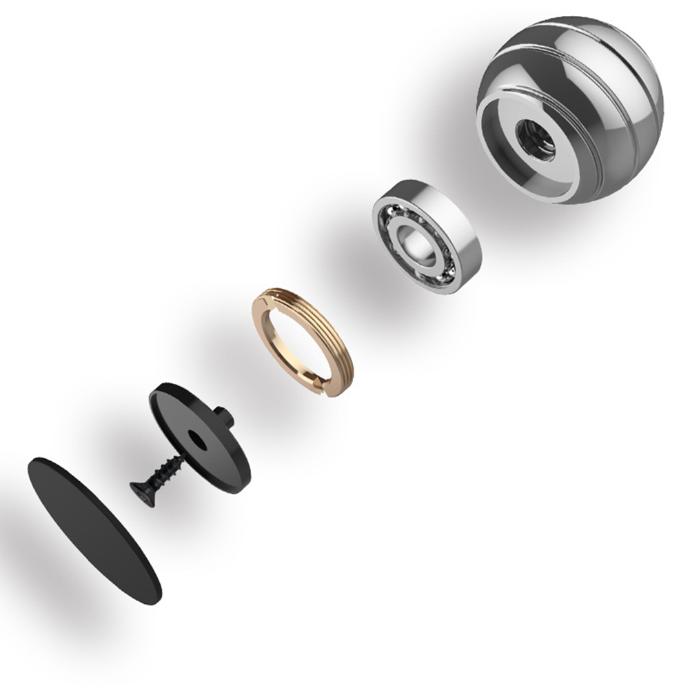 Spherical Rotating Gyro Optical Adults Metal Finger Gyroscope Illusion Flowing Decompression Toy Kinetic Anti Stress Desk Ball in Fidget Spinner from Toys Hobbies