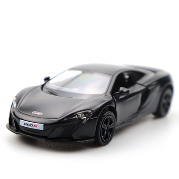1/36 Doors-open McLaren 650S Model Car Black High Simulation Alloy Diecast Car Model Pull Back Collection For Gifts maisto 1 24 2009 gtr35 white car diecast for nissan police open car doors car model motorcar diecast for men collecting 32512