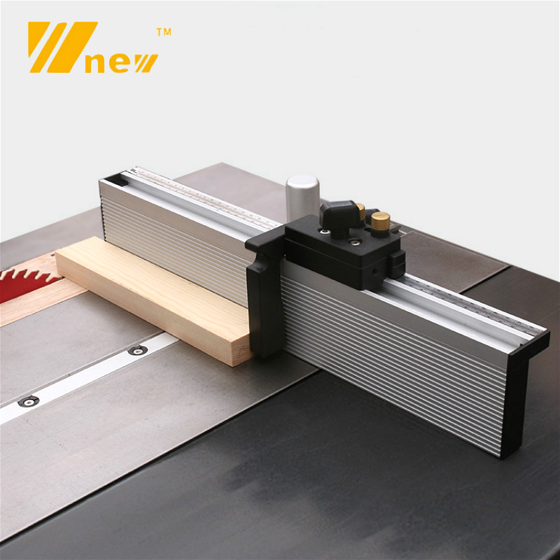 Miter Gauge Table Saw Router Angle Miter Gauge Guide Aluminium Fence Profile 450/600/800mm With Flip Stop For Woodworking Tools