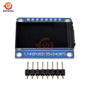 Image 2 - 1.14Inch 135X240 Spi Seriële Tft Lcd Display Module ST7789 Drive Ic Ips Hd Rgb Lcd scherm Full view 8 Pin 135*240 3.3V Spi Poort