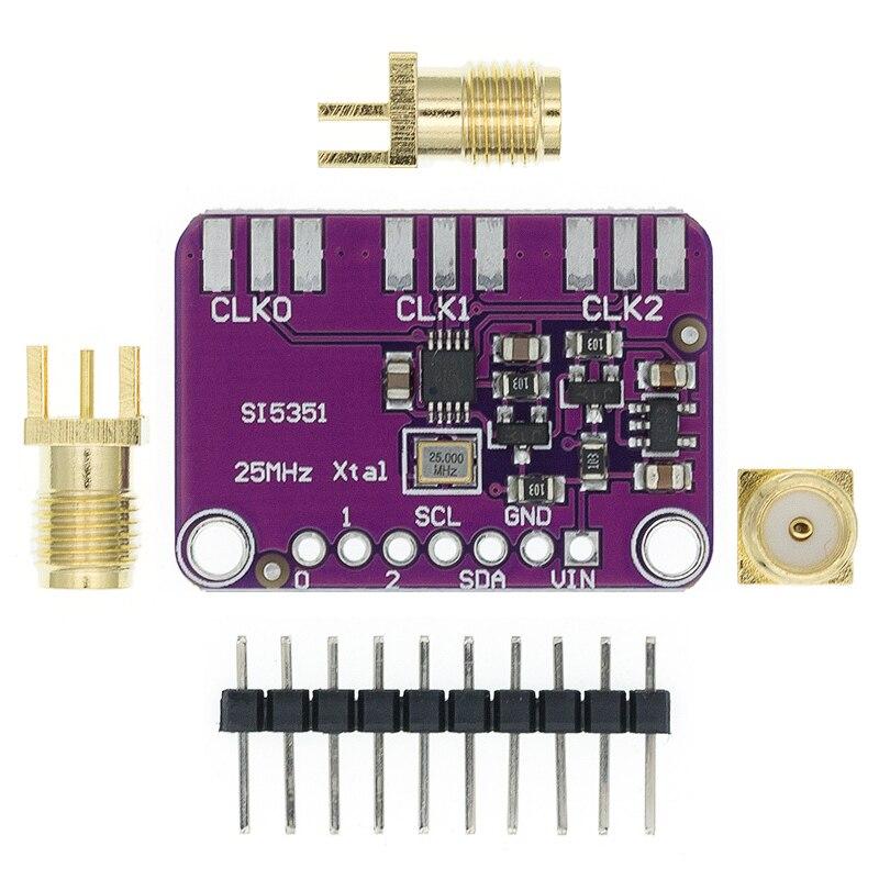 Модуль генератора сигналов для Arduino, 3 в-5 в пост. Тока, Si5351A, Si5351, I2C, 8 кГц-160 МГц