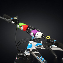 Multi-color Bicycle Bell Silicone Electronic Horn Warning Safety Handlebar Bike Horn Loud Sound Ring Bell Cycling Accessories bicycle bell waterproof loud cycling electric horn 140 db bike handlebar ring strong loud alarm bell sound bike horn safety