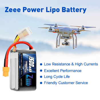 2units Zeee 4S 14.8V 1500mAh 100C Lipo Battery with XT60 Connector Softcase Lipo Battery for RC Car Truck Airplane FPV UAV Drone 4