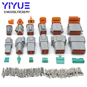 1 Sets Deutsch DT 2 3 4 6 8 12 Pin Male Female Auto Waterproof Connector Automotive Sealed Plug With Pins deutsch dtm 2 3 4 6 8 10 12p male female auto waterproof connector with pins terminals automotive sealed plug
