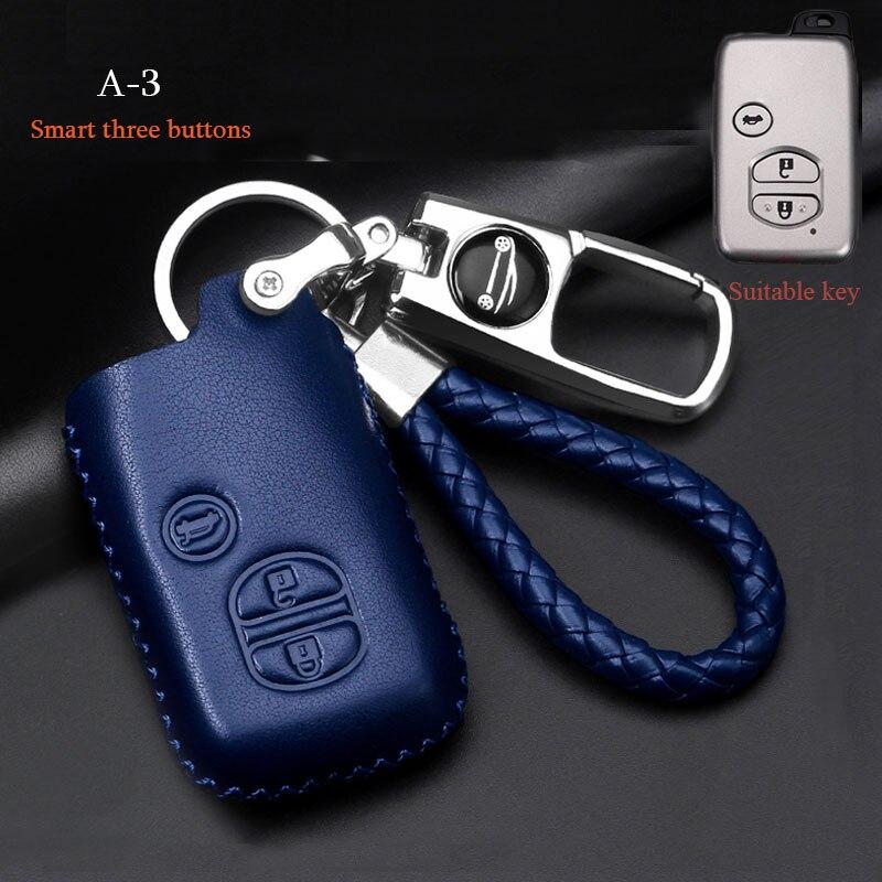 Коровьей кожаный чехол для автомобильных ключей, чехол для Toyota Highlander Land Cruiser 200 Prado150120 Camry Reiz crown контрольный инструмент автомобильных металл...