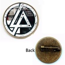New Vintage Linkin Park Brooch Bands Logo Pins Chester Bennington Band Antique Bronze Plated Men Women Hot Jewelry Souvenir Gift