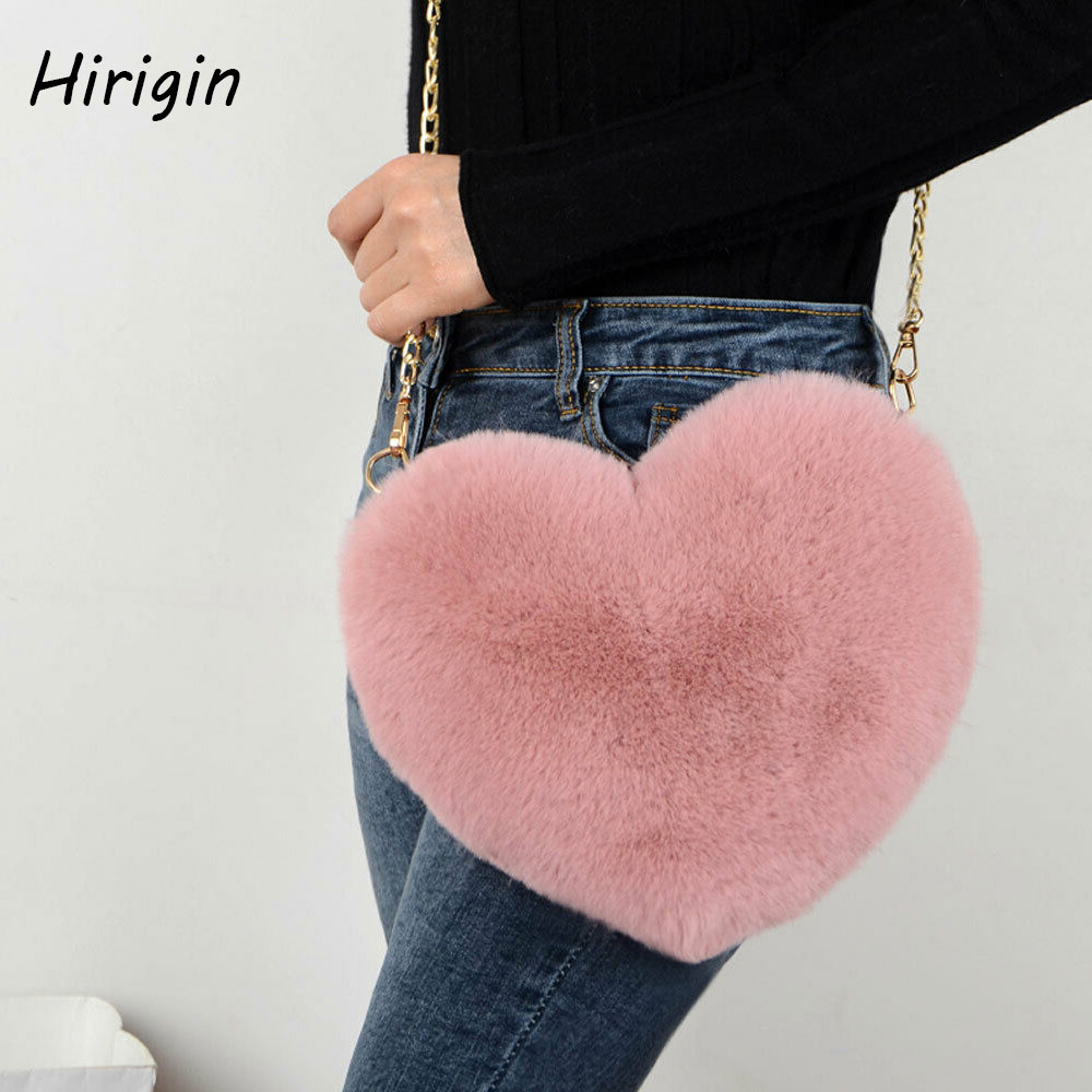 2020 Girl's Cute Plush Wallet Solid Chain Zipper Coin Bag Vintage Luxury Designer Purse Coin Pouch Multi-functional Cards Wallet
