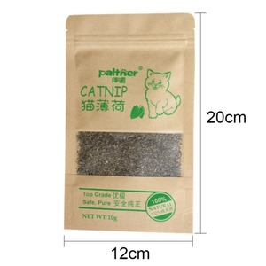 Pet Supplies Menthol Flavor Funny Cat Toys New Organic 100% Natural Premium Catnip Cattle Grass 10g Pet Products Dropshipping
