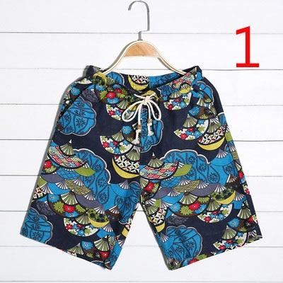 Trend Big Size Ice Silk 5 Pants Summer Thin Section Beach Pants Men's Cotton Pants