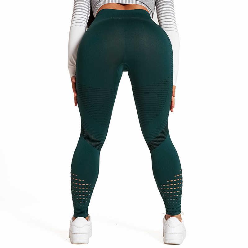 Женские черные леггинсы для фитнеса, спортивные Леггинсы с высокой талией, супер эластичные спортивные штаны для бега, Feminina