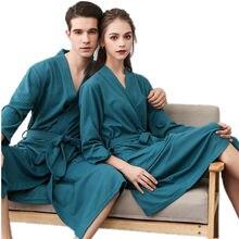 New Sleepwear On Sale Lovers Suck Water Kimono Bath Robe Men Plus Size Sexy Waffle Bathrobe Mens Dressing Gown Male Lounge Robes