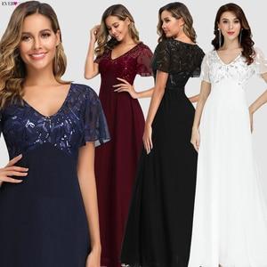 Image 3 - גלימת דה Soiree Sparkle ערב שמלות ארוך פעם די EP00904GY אונליין O צוואר קצר שרוול פורמליות שמלות נשים אלגנטי שמלות