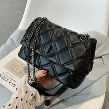 Embroidery Thread Small PU Leather Crossbody Bags for Women 2021 Women's Luxury Branded Trending Chain Shoulder Handbags
