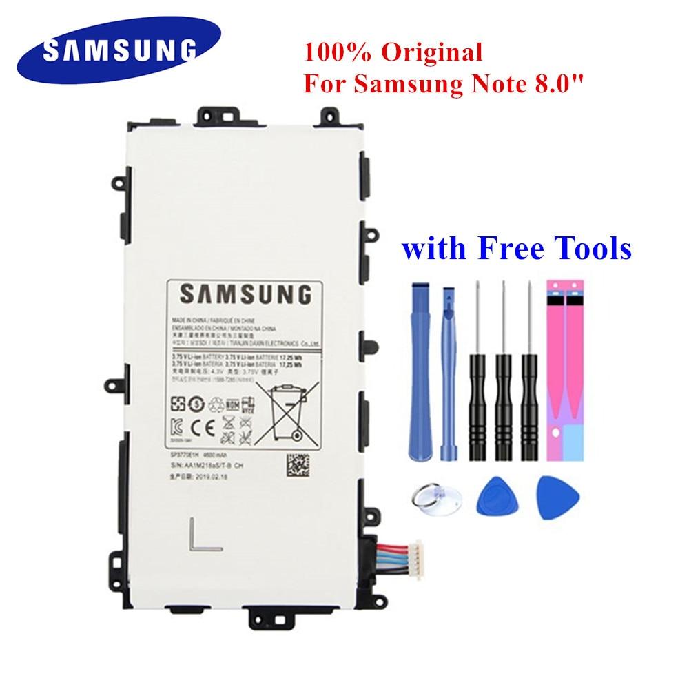 Original Tablet Battery SP3770E1H For Samsung Galaxy Note 8.0 GT-N5100 N5110 N5120 4600mAh Real Capacity PC Akku +Tools