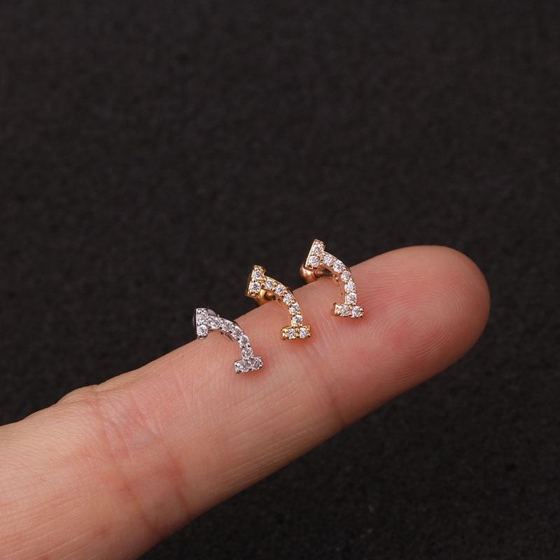 1 PCS Mix Kinds Trendy Small Snowflake Flower Eye Ear Studs Cuff Earrings Cute Silver Color CZ Helix Piercing Cartilage Earrings