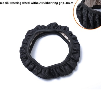 Car Steering Wheel Covers Winter Universal Hand Brake Gear Position Gear Fur Cover Car Interior Accessories 38Cm image
