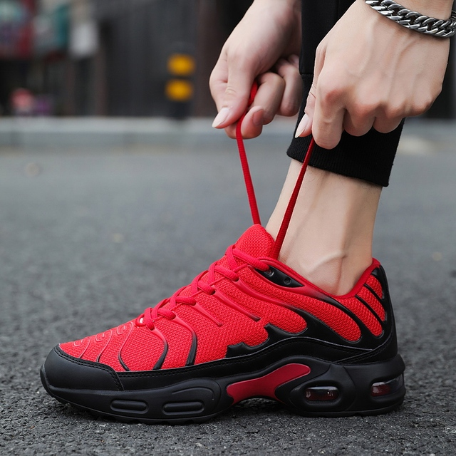 Damyuan 2019 Breathable mesh Men Sneakers Comfortable Air Cushion Outdoor Walking Heightened Red Running Shoes Big Size 46 1