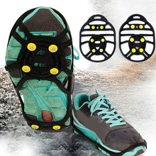 Outdoor 6-tooth crampons Strengthen the simple Non-slip Anti-skid crampons 1 Pair Hot