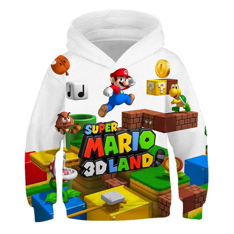criancas super mario bros 3d hoodie moda 04