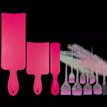 Hair Coloring Board Hair Tint Dyeing Highlighting Board Hairdressing Professional Pick Color Balayage Board Tool  brush set