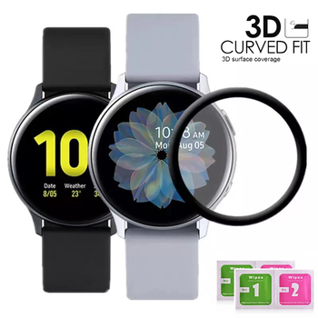 1/2/3PCS 20D Curved Edge Screen protector Glass For Samsung galaxy Watch Active 2 40mm 44mm Protective Tempered Glass Film 1