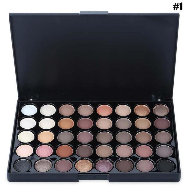 40 Color Eyeshadow Pallete Warm Color Smoky Makeup Palette Matte Multicolor Eyeshadow Palette Lasting Professional 1pc