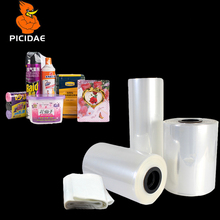 Pof Reel Heat Shrinkable Film Transparent Plastic Cylindrical Packaging Bag Book Daily Necessities Food Stationery Drug Cosmetic