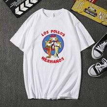 Camiseta de los pollos hermanos para hombre, ropa de marca con estampado de letras de estilo Hip Hop, camiseta de manga corta de Anime de alta calidad, novedad de 2020