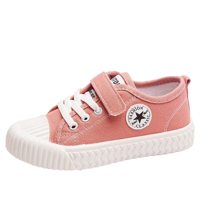 Children's Casual Shoes Kids Sneakers Candy Color Soft Stretch Fabric Breathable Slip-on Sports Shoes For Boys Girls Fashion Hot