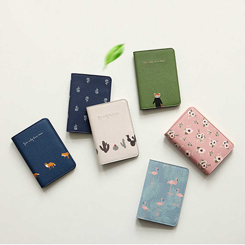 2019 New Fashion Travel Leather Passport Holder Card Case Protector Cover Floral Wallet Bags Flower Passport Cover for girls