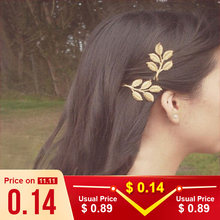Olive branch branches leaves seaside beach vacation beautiful bride hairpin side clip hair accessories gift wholesale(China)
