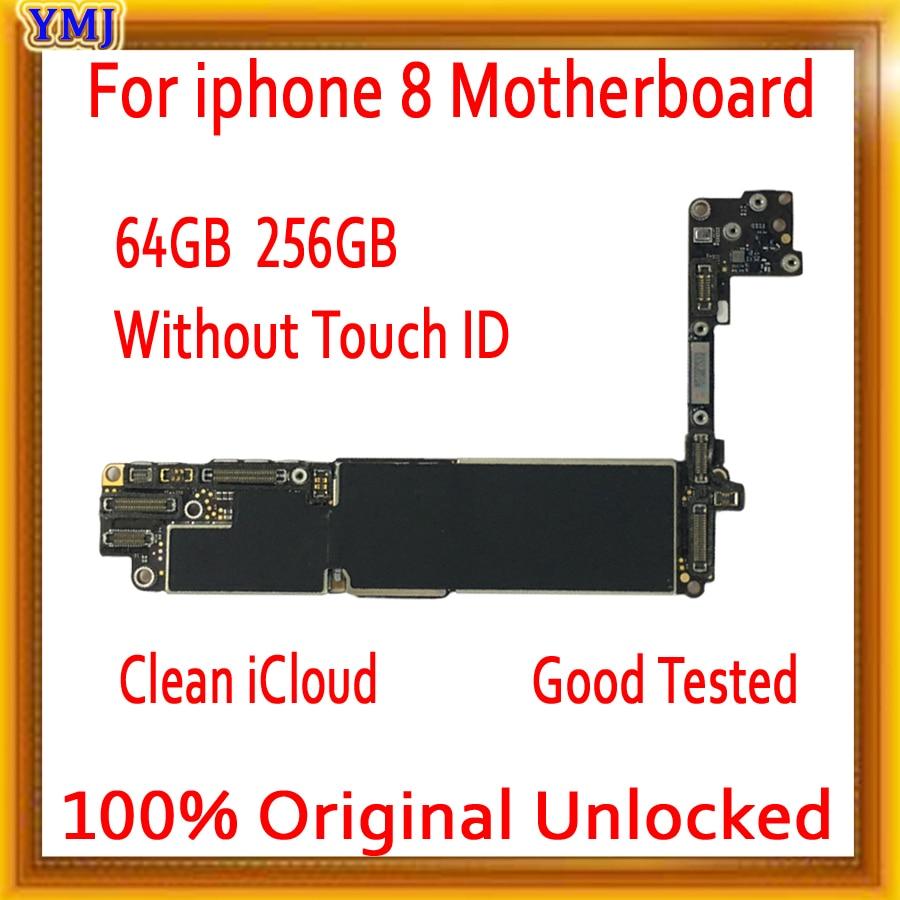 送料 icloud iphone 8 マザーボードと id/なしタッチ id 、オリジナルロック解除 iphone 8 とフルチップ