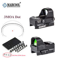 MARCOOL Optics 3MOA Red Dot Sight Collimator Rifle Reflex Sight Scope  Original Quality Black Hard Oxided shooin red fiber optics 8x40 eyepiece focus rifle scope m5322