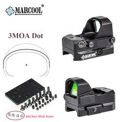 Marcool optics 3moa 레드 닷 시력 콜리메이터 라이플 리플렉스 사이트 스코프, 소용돌이 원래 품질