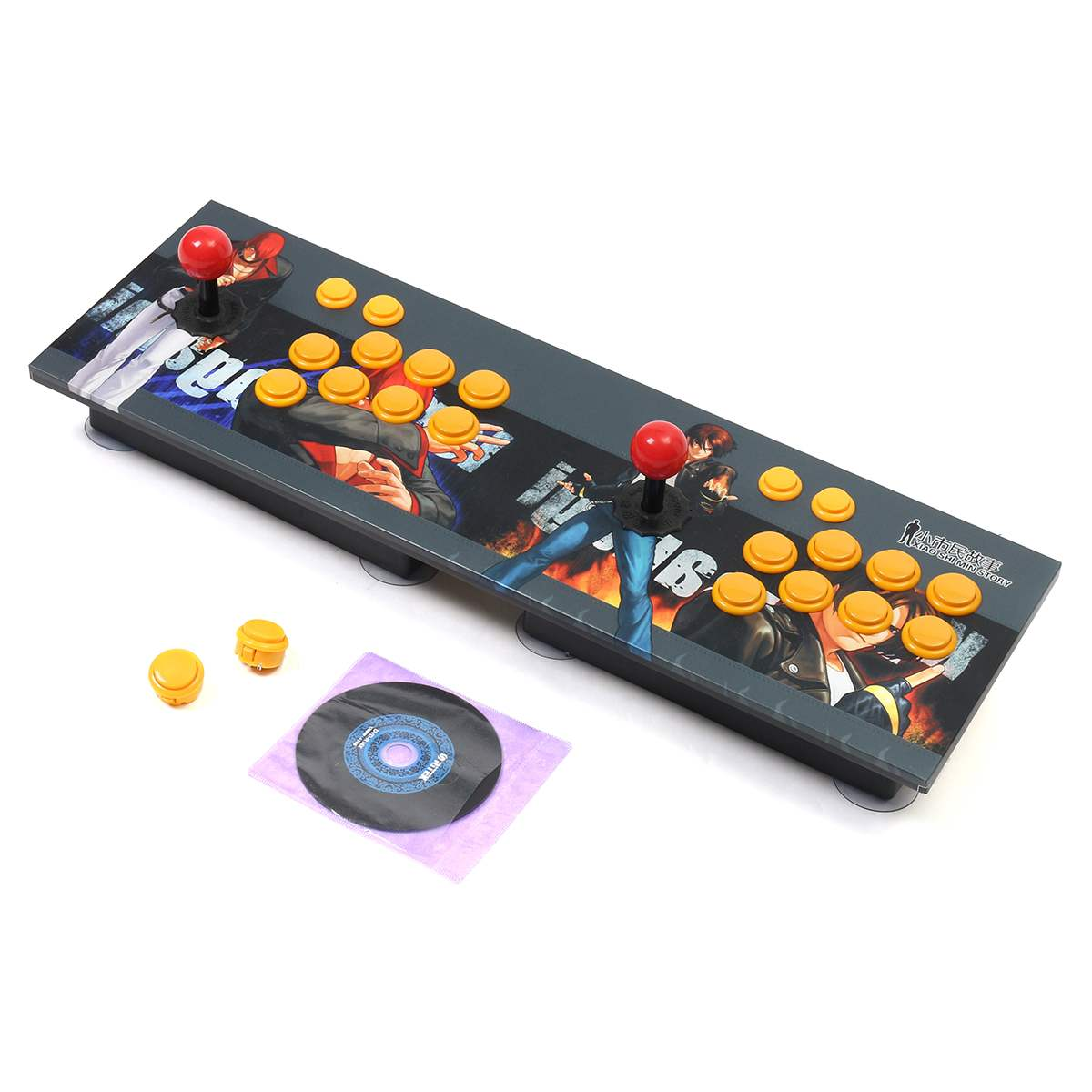 Double Arcade Stick Video Game Joystick 8 Button Controller Console PC USB 2 Player Video Game Machine Game Playing Accessories