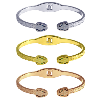 Snake Cuff Bracelet Women's Couple Stainless Steel Charm Bangles Jewelry Luxury Fashion Punk Wedding Birthday African Spain 1