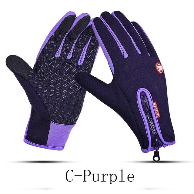 Man Winter Gloves Touch Screen Rain-proof 15 style Ski Lady Waterproof Warm Fashion Windproof Riding Sports Gloves Women Zipper 4