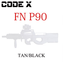 Code X Gel Blaster P90 Model Kit Set Upgrade Fn P90 Wbb Tijdschrift Feed Gel Bal Stralen Speelgoed(China)