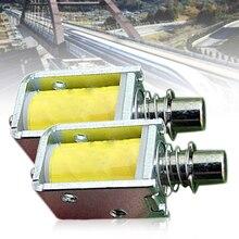 1Pcs DC 3~6V Mini Solenoid Electromagnet Push Pull Through Type Electric Magnet For