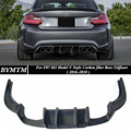 V Style Bumper Carbon fiber Rear Diffuser For BMW F87 M2