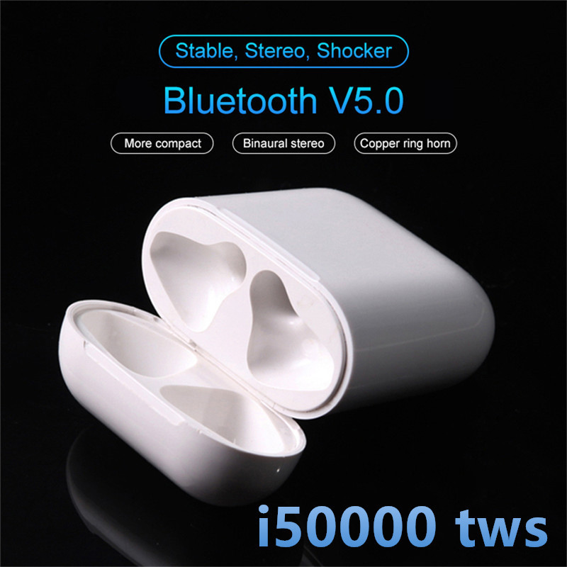 I50000 <font><b>Tws</b></font> Wireless Earphone Super Bass Support In Ear Detect Sensor Pk I12 I80 I200 I5000 I9000 <font><b>I30000</b></font> <font><b>Tws</b></font> <font><b>Original</b></font> Earbuds image