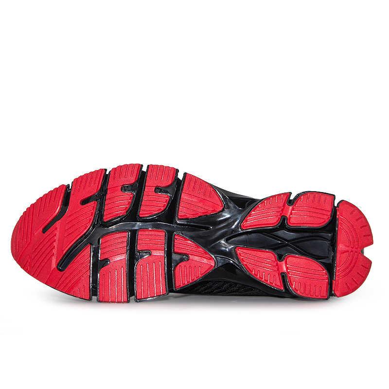 Zapatillas de deporte de malla transpirable para Hombre Zapatillas de deporte al aire libre para Hombre Zapatillas deportivas negro rojo para caminar Zapatillas de tenis atléticas para Hombre