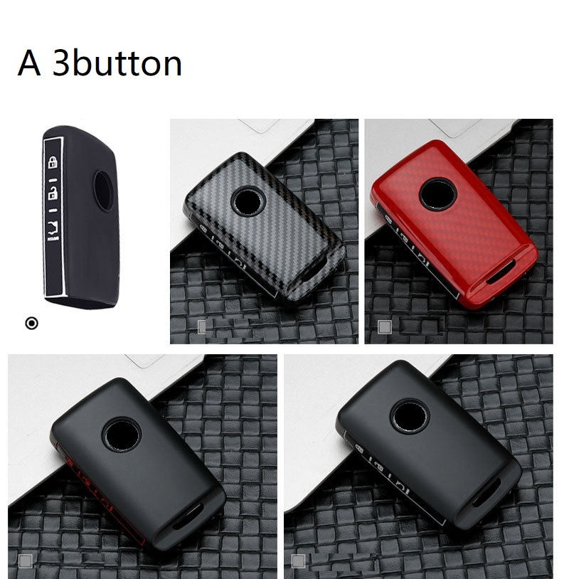 4 Buttons TPU Smart keyless Side Buttons Remote Key Fob case Cover for 2019 2020 Mazda 3 Mazda 3 Hatchback CX-30 2020 Mazda CX-5 red TM Royalfox