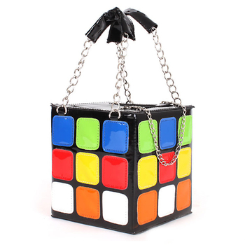 цена на 2020 Women Handbag Cute Cube Shape Shoulder Bags Purse Clutch Purse Party Prom Fashion Casual Leather Colorful Crossbody Bags