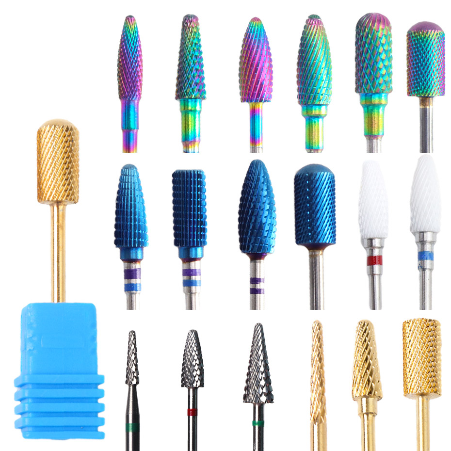 1pcs Rotary Diamond Nail Drill Bit Mills Chameleon Milling Cutters Electric Cleaning Removing Polish Gel Nail Art Tools JI932