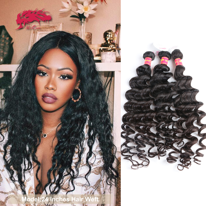 Ali Queen Hair Brazilian Hair Natural Wave 100% Human Remy Hair Weaves Bundles 1/3/4Pcs Natural Color 10