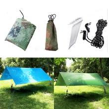 Multifunctional Camping Tarp Beach Tent Sunshade Canopy Waterproof UV Proof Hammock Rain Fly Tent Tarp Sun Shelter with A Mat tatonka tarp 1