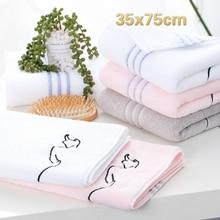 High Quality Pure Cotton Plain Men And Women Washcloth School Travel Hotel Portable Bath Towel Gym Yoga Sports Lovers Gift