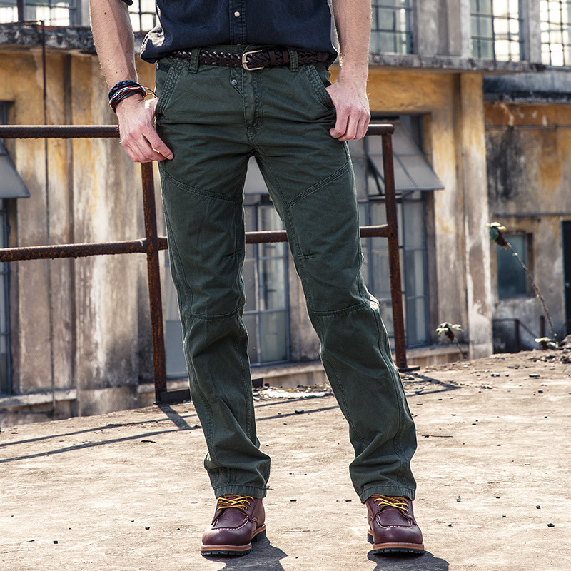 Youth Men Outdoor Large Size Loose Straight Casual Pants Europe And America Pure Cotton Cargo Trousers Supply Of Goods
