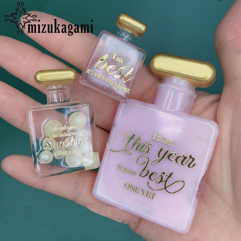 1pcs UV Resin Perfume Bottle Mold Decorative Pendant Mold Silicone Mould DIY Crystal Epoxy Resin Mold Jewelry Making Tools